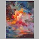 זול ציורי שמן-ציור שמן צבוע-Hang מצויר ביד - מופשט אומנותי מופשט (אבסטרקטי) מודרני / עכשווי בַּד