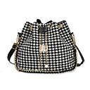 رخيصةأون حقائب كروس-للمرأة أكياس البوليستر حقيبة الكتف هندسي أبيض / أسود