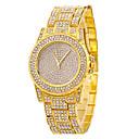 baratos Anéis-Mulheres Relógio de Pulso Relógio Casual / Legal Aço Inoxidável Banda Casual / Fashion Prata / Dourada / Ouro Rose