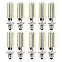 preiswerte LED Doppelsteckerlichter-BRELONG® 10 Stück 8W 700lm LED Mais-Birnen 152 LED-Perlen SMD 3014 Abblendbar Warmes Weiß Weiß 220V 110V