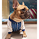 cheap Dog Clothes-Dog Sweatshirt Dog Clothes Casual/Daily Fashion Stripe Red Blue Costume For Pets