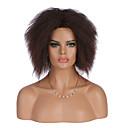 Χαμηλού Κόστους Συνθετικές περούκες χωρίς σκουφί-Συνθετικές Περούκες Κατσαρά Ίσια Στυλ Χωρίς κάλυμμα Περούκα Καφέ Καστανό Συνθετικά μαλλιά Γυναικεία Περούκα αφροαμερικανικό στυλ Καφέ Περούκα Μεσαίο Φυσική περούκα