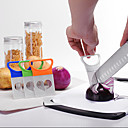 cheap LED String Lights-Kitchen Onion Slicer Cut Onion Holder Fork Tomato Vegetable Slicer Cutting Aid Guide Holder Fruit Cutter