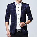cheap Rings-Men's Plus Size Blazer-Camouflage / Long Sleeve / Work