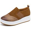 cheap Women's Boat Shoes-Women's Shoes Suede Spring / Fall Comfort Loafers & Slip-Ons Low Heel Round Toe Black / Brown