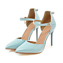 cheap Women's Heels-Women's Shoes PU(Polyurethane) Spring / Fall Comfort / Novelty Heels Stiletto Heel Pointed Toe Buckle / Hollow-out Beige / Blue / Pink