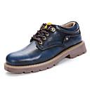 olcso Férfi bebújós cipők és papucsok-Férfi Fashion Boots Bőrutánzat Tavasz / Nyár Kényelmes Tornacipők Barna / Kék