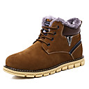 cheap Men's Boots-Men's Snow Boots Suede Fall / Winter Boots Booties / Ankle Boots Dark Blue / Brown