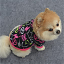 cheap Pet Christmas Costumes-Dog Sweatshirt Dog Clothes Geometic Black / Purple / Fuchsia Polar Fleece Costume For Pets Casual / Daily