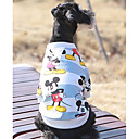 cheap Wedding Wraps-Dog Sweatshirt Dog Clothes Cartoon Blue / Pink Cotton Costume For Pets Casual / Daily