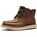 cheap Men's Sneakers-Men's Bootie Nappa Leather Fall / Winter Boots Booties / Ankle Boots Black / Brown