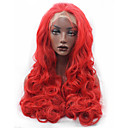 cheap Shoulder Bags-Synthetic Lace Front Wig Wavy / Natural Wave Synthetic Hair Silk Base Hair / Natural Hairline Red Wig Women's Long Lace Front