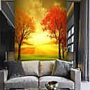 billige Vegglamper-Tre Natur og landskap Blad Hjem Dekor Pastorale Stilen Moderne Tapetsering, Lerret Materiale selvklebende nødvendig Veggmaleri, Tapet