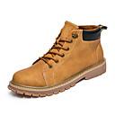 hesapli Düğün Dekorasyonları-Erkek Ayakkabı Suni Deri Sonbahar / Kış Kürk Astar Çizmeler Bootiler / Bilek Botları Günlük / Ofis ve Kariyer için Bağcıklı Gri / Sarı / Haki