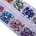 cheap Rhinestone & Decorations-1 pcs Glitter Powder Nail Jewelry Rhinestones Fashionable Design / Sparkling / Crystal / Rhinestone Style nail art Manicure Pedicure Party / Party / Evening / Daily Elegant & Luxurious / Sparkle