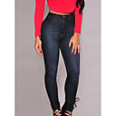 cheap Tablets-Women's Skinny Slim / Jeans Pants - Solid Colored / Sexy