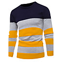 cheap Instrument Accessories-Men's Basic Long Sleeves Pullover - Striped Round Neck