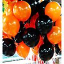 billige Bursdagdekor-50pieces halloween ballong combo 10 inches 2,2 gram underordnet glatt tykk oransje og svart ballonger