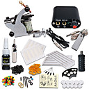 cheap Starter Tattoo Kits-Tattoo Machine Starter Kit - 1 pcs Tattoo Machines with 1 x 5 ml tattoo inks, Professional Mini power supply 1 steel machine liner & shader
