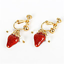 cheap Wedding Shoes-Women's Synthetic Ruby Clip Earrings - Imitation Pearl Fruit Personalized, Fashion Gold For Daily / Casual