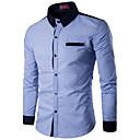 זול סטים של ביגוד לבנים-מנוקד צווארון עומד(סיני) פעיל עבודה חולצה - בגדי ריקוד גברים / שרוול ארוך
