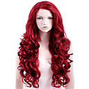 cheap Synthetic Capless Wigs-Synthetic Wig Women's Body Wave Red Synthetic Hair Red Wig Long Capless Dark Wine