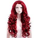 preiswerte Synthetische Perücken-Synthetische Perücken Große Wellen Synthetische Haare Rot Perücke Damen Lang Kappenlos