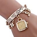 baratos Relógios da Moda-Mulheres Bracele Relógio Chinês Impermeável / Criativo Aço Inoxidável Banda Amuleto / Casual / Fashion Prata / Dourada