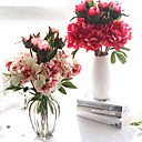 cheap Artificial Flower-Artificial Flowers 1 Branch European Peonies Tabletop Flower