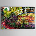 levne Krajiny-Hang-malované olejomalba Ručně malované - Krajina Módní a moderní Plátno / Reprodukce plátna