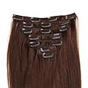 hesapli At Kuyrukları-Klipsli İnsan Saç Uzantıları Düz Kadın's Günlük