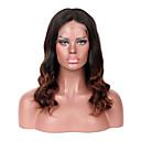 olcso Emberi hajból készült parókák-Remy haj Csipke eleje Paróka Brazil haj Hullámos Paróka Tincselve 130% Haj denzitás 100% Szűz Női Közepes Emberi hajból készült parókák