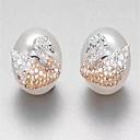 cheap Earrings-Women's Stud Earrings - Pearl, Sterling Silver Luxury White For Gift Daily