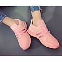 preiswerte Damen Turnschuhe-Damen Schuhe Leinwand Frühling Sommer Komfort Sneakers Für Normal Weiß Schwarz Rosa