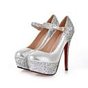 abordables Zapatos de Boda-Mujer Zapatos Purpurina Otoño / Invierno Confort Tacones Tacón Stiletto Dedo redondo Hebilla Dorado / Plata / Boda / Fiesta y Noche