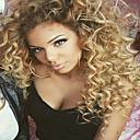 billige Syntetiske parykker-Ekte hår Halvblonder uten lim Blonde Forside Parykk Brasiliansk hår Krop Bølge Kinky Curly Parykk Bobfrisyre 130% Hair Tetthet med baby hår Afroamerikansk parykk 100 % håndknyttet Dame Blondeparykker
