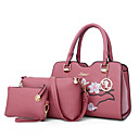 cheap Bag Sets-Women's Bags PU Bag Set Embroidery Blushing Pink / Military Green / Gray