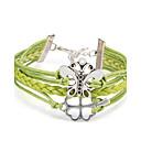 cheap Women's Heels-Women's Wrap Bracelet / Leather Bracelet - Flower, Butterfly Punk, Cross Bracelet Green For Daily / Casual / Stage
