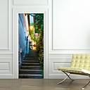 tanie Naklejki ścienne-Naklejki na drzwi - Naklejki ścienne 3D Sławny / Krajobraz / 3D Salon / Sypialnia / Gabinet / Office