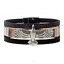 cheap Men's Earrings-Men's Women's Leather Bracelet - Leather Eagle Personalized, Vintage Bracelet Black / Gray / Coffee For Casual Stage