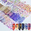 cheap Nail Stickers-16 pcs 3D Nail Stickers Nail DIY Tools Stickers nail art Manicure Pedicure 3D Fashion Daily / Lace Sticker