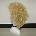 cheap Human Hair Wigs-Synthetic Wig Curly Blonde Synthetic Hair Blonde Wig Women's Medium Length Capless