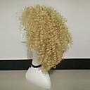 tanie Buty do latino-Peruki syntetyczne Damskie Curly Blond Włosie synetyczne Blond Peruka Długość średnia Bez czepka Blond