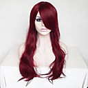 cheap Synthetic Capless Wigs-Synthetic Wig Wavy / Deep Wave Asymmetrical Haircut / With Bangs Synthetic Hair Natural Hairline Red Wig Women's Long Capless