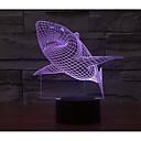 olcso Asztali dekor lámpa-1set 3D éjszakai fény USB AkkumulátorBattery Színváltós Dekoratív
