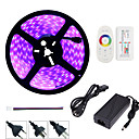 cheap LED Strip Lights-HKV 5m Light Sets 300 LEDs 5050 SMD RGB Waterproof / Cuttable / Dimmable 110-220 V 1 set / Linkable / Self-adhesive / Color-Changing / IP67