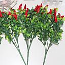 זול אביזרים לנעליים-פרחים מלאכותיים 3 ענף פסטורלי סגנון צמחים פרחים לשולחן