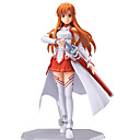olcso Rajzfilmfigurák-Anime Akciófigurák Ihlette Kardművészet Online Asuna Yuuki PVC 13 cm CM Modell játékok Doll Toy