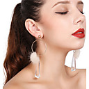cheap Men's Necklaces-Women's Tassel Drop Earrings / Hoop Earrings - Tassel Gold For Party / Daily