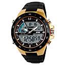 preiswerte Sportuhr-SKMEI Herrn Uhr Sportuhr Digitaluhr digital Plastic Schwarz Armbanduhren für den Alltag Cool Analog-Digital Freizeit Gold Schwarz